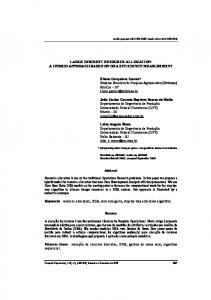 LARGE DISCREET RESOURCE ALLOCATION: A HYBRID ... - Ainfo