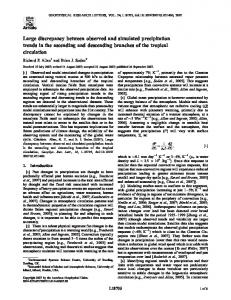 Large discrepancy between observed and simulated ... - CiteSeerX