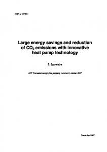 Large energy savings and reduction of CO2 emissions with ... - ECN