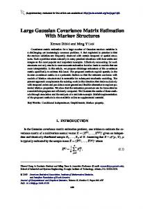 Large Gaussian Covariance Matrix Estimation With Markov Structures