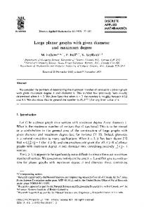 Large planar graphs with given diameter and maximum degree