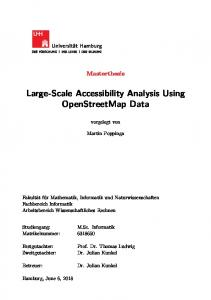 Large-Scale Accessibility Analysis Using