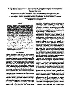 Large-Scale Acquisition of Feature-Based Conceptual ...