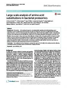 Large scale analysis of amino acid substitutions in ... - Springer Link