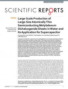 Large-Scale Production of Large-Size Atomically
