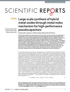Large-scale synthesis of hybrid metal oxides