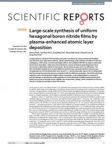 Large-scale synthesis of uniform hexagonal boron nitride films by