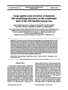 Large spatial scale variation of demersal fish assemblage structure on ...