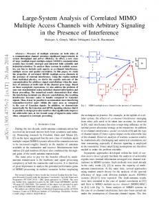 Large-System Analysis of Correlated MIMO Multiple Access Channels ...