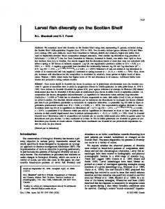 Larval fish diversity on the Scotian Shelf - Canadian Science Publishing