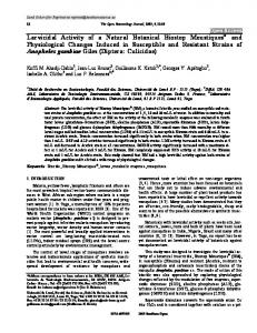 Larvicidal Activity of a Natural Botanical Biostop ... - Bentham Open