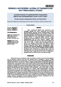 Larvicidal Potential of Fungi Based Silver Nanoparticles Against Culex
