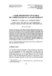 laser desorption dynamics of carbendazim on a glass surface - Hindawi
