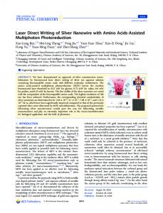 Laser Direct Writing of Silver Nanowire with Amino ... - ACS Publications