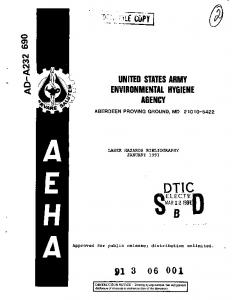 Laser Hazards Bibliography, January 1991 - Defense Technical ...