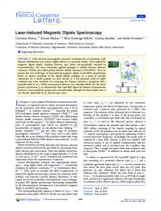 Laser-Induced Magnetic Dipole Spectroscopy - ACS Publications