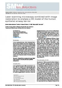 Laser scanning microscopy combined with image