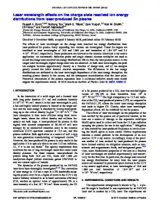 Laser wavelength effects on the charge state resolved ion energy ...