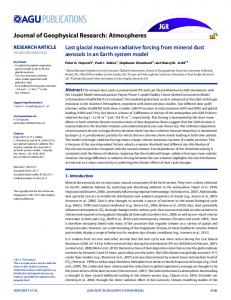 Last glacial maximum radiative forcing from ... - Wiley Online Library