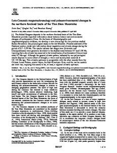 Late Cenozoic magnetochronology and ... - Wiley Online Library