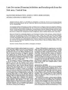 Late Devonian (Frasnian) trilobites and brachiopods from the ... - Informit