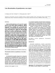 Late dissemination of ependymoma: case report