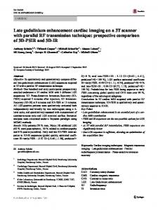 Late gadolinium enhancement cardiac imaging on a 3T scanner with ...