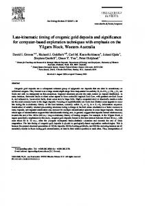 Late-kinematic timing of orogenic gold deposits and significance for ...
