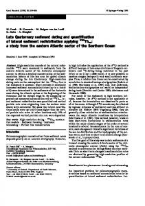 Late Quaternary sediment dating and quantification of lateral sediment ...