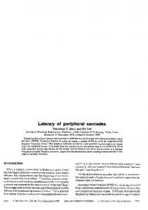 Latency of peripheral saccades