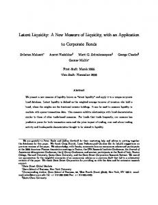 Latent Liquidity: A New Measure of Liquidity, with an ... - SSRN papers