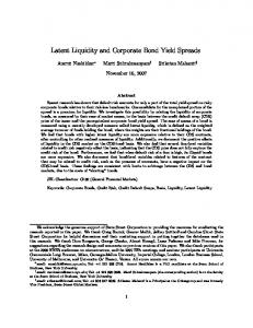 Latent Liquidity and Corporate Bond Yield Spreads