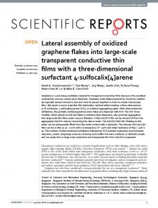 Lateral assembly of oxidized graphene flakes into ... - Semantic Scholar