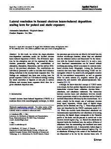 Lateral resolution in focused electron beam-induced ... - Springer Link