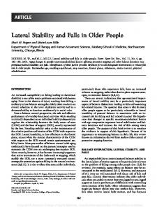 Lateral Stability and Falls in Older People - Semantic Scholar
