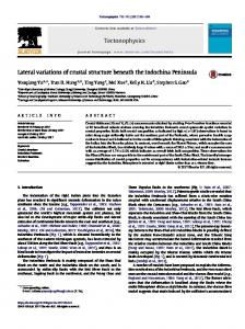 Lateral variations of crustal structure beneath the Indochina Peninsula