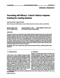 Lateral violence response training for nursing students - Sciedu Press