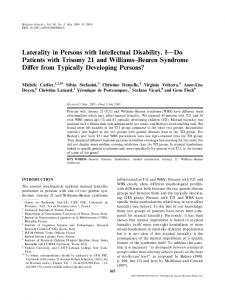 Laterality in Persons with Intellectual Disability. I—Do ...