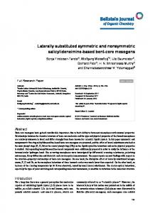Laterally substituted symmetric and nonsymmetric ... - Beilstein Journals