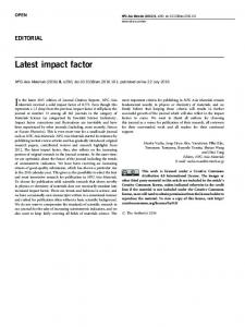 Latest impact factor - Nature