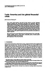 Latin America and the global financial crisis - Oxford Journals