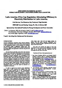 Latin America--Price Cap Regulation: Stimulating ... - IEEE Xplore