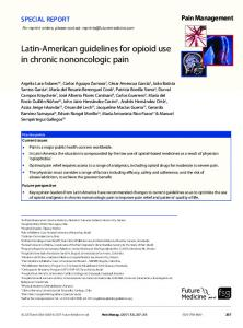 Latin-American guidelines for opioid use in chronic ... - Future Medicine