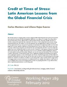 Latin American lessons from the global financial crisis