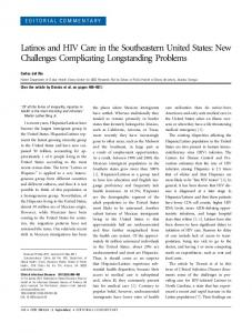 Latinos and HIV Care in the Southeastern United States: New ...