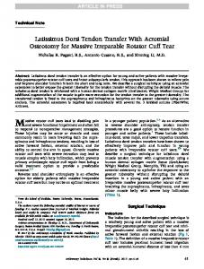 Latissimus Dorsi Tendon Transfer With Acromial
