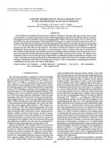 latitude distribution of polar magnetic flux in the ... - IOPscience