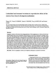 Latitudinal and seasonal variation in ... - Wiley Online Library