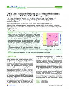 Lattice Strain Induced Remarkable Enhancement ... - ACS Publications