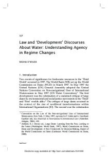 Law and 'Development' Discourses About Water